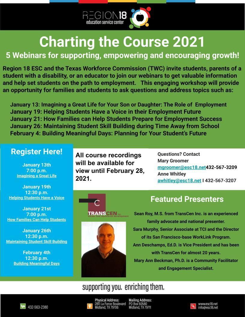 Charting The Course Webinars