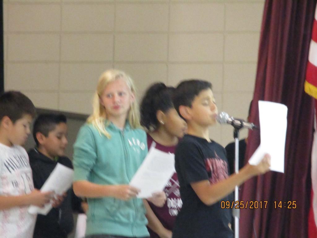 5th graders reader theater on Wonder