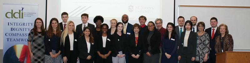 Group photo of students from St. John's University