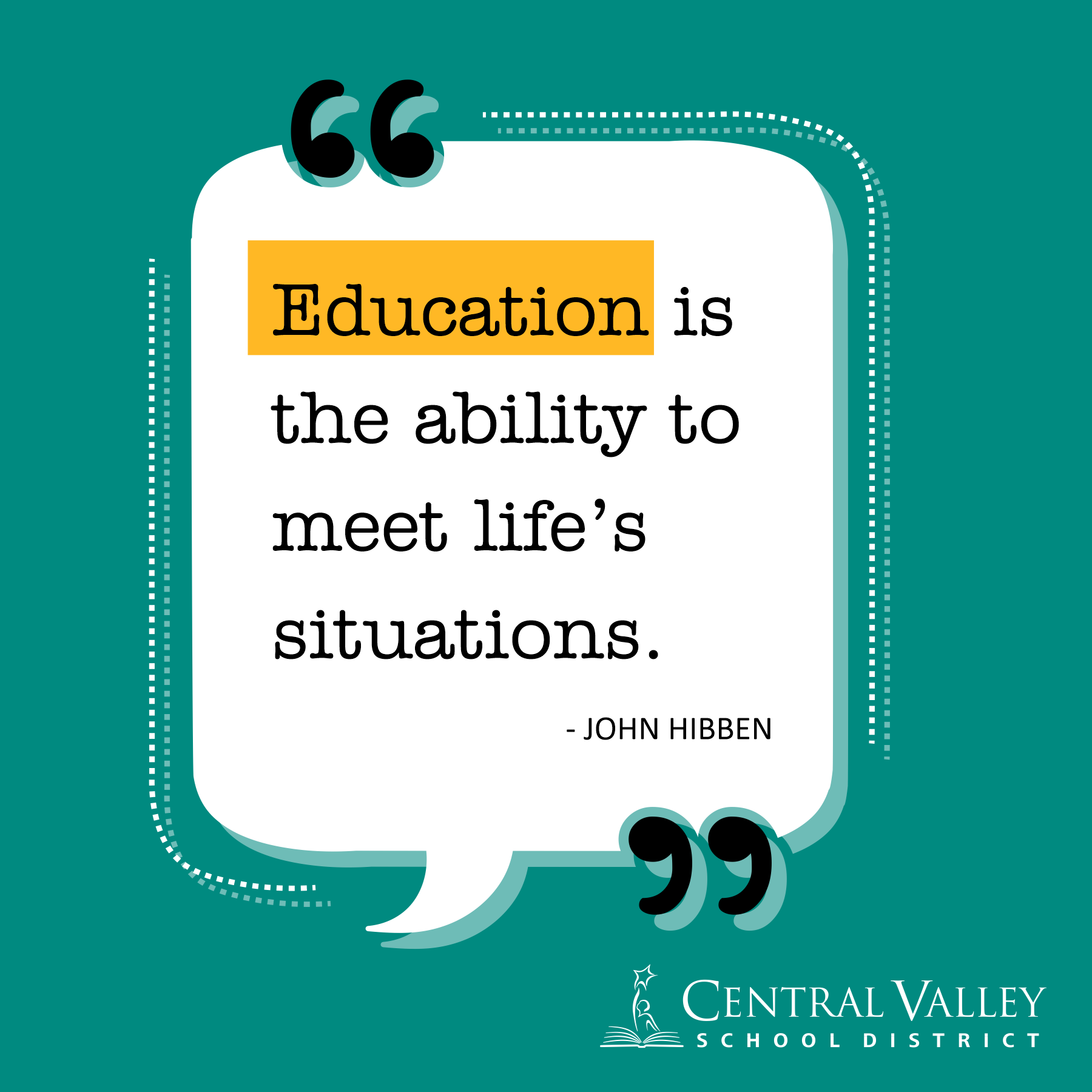 Education is the ability to meet life's situations. - John Hibben