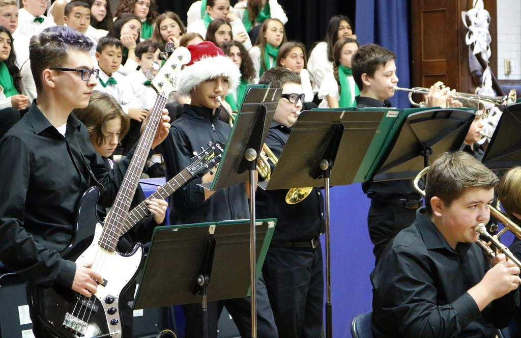 Photo of members of Edison student band & orchestra performing at McKinley.