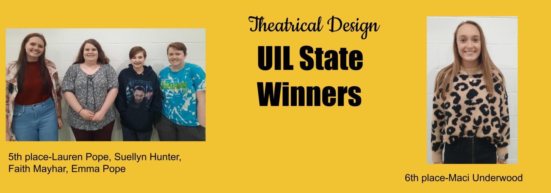 Theatrical design winners