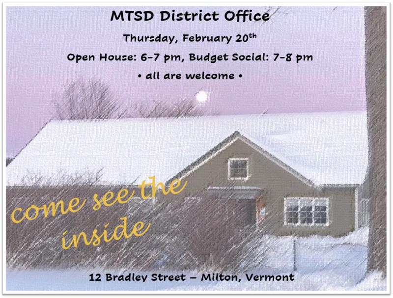 Open House. Feb 20 6pm. Budget Social 7pm. 12 Bradley Street