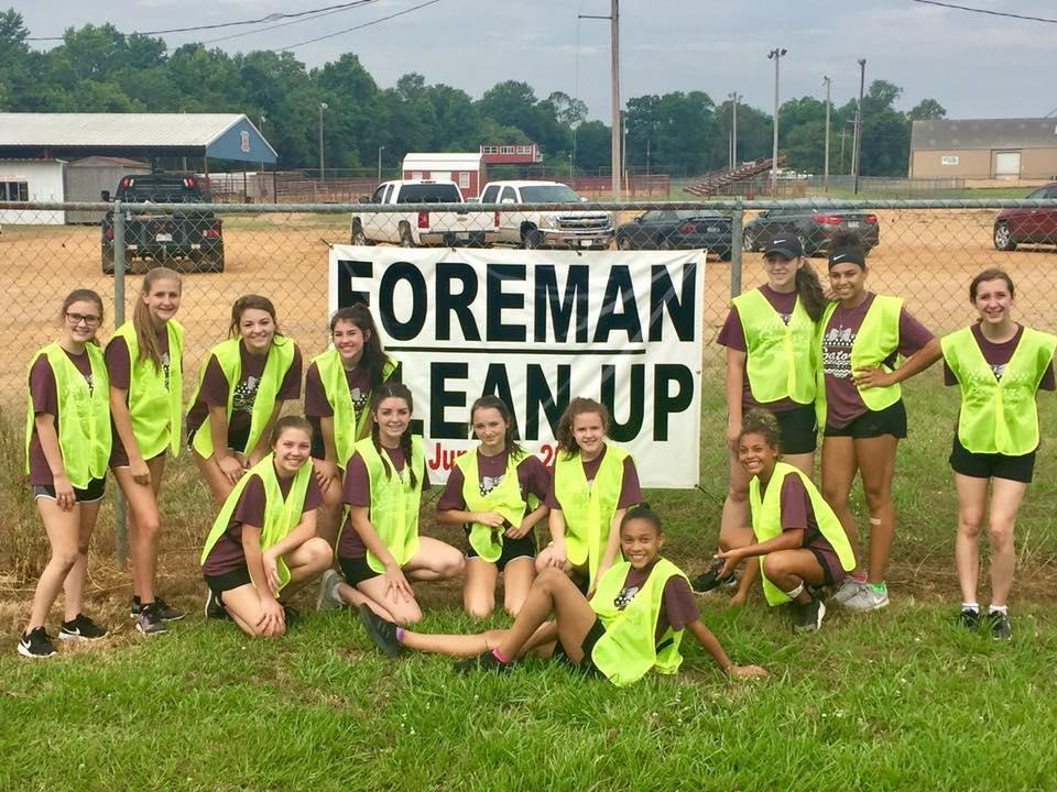 Foreman Cheer Cleaning up the town