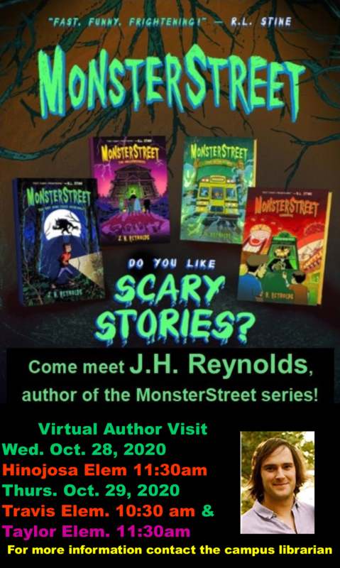 Meet MonsterStreet author J.H. Reynolds | October 28 and 29 | click for more info Featured Photo