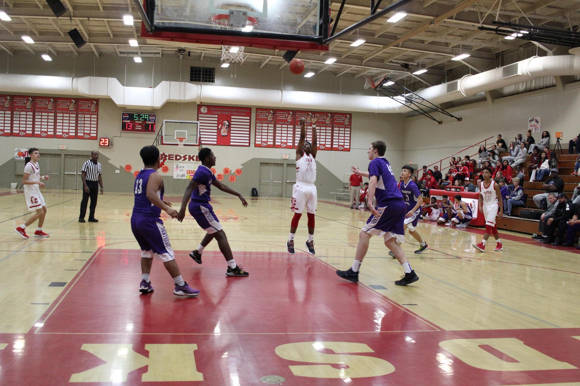 Athletes at Basket Ball Game vs Union
