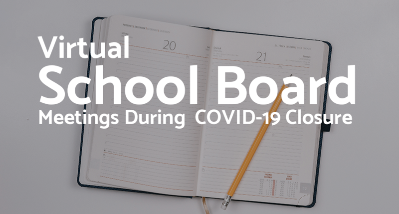 virtual meeting for school board