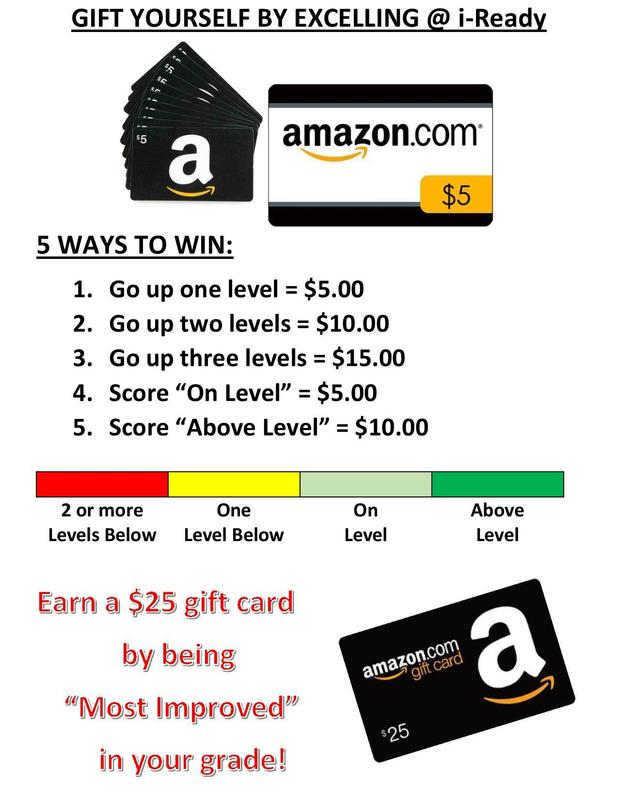 i-Ready Amazon Gift Card Poster