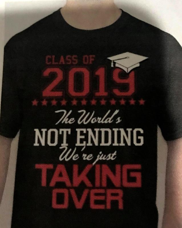 Front of Shirt:  The World's Not Ending, We are just Taking Over