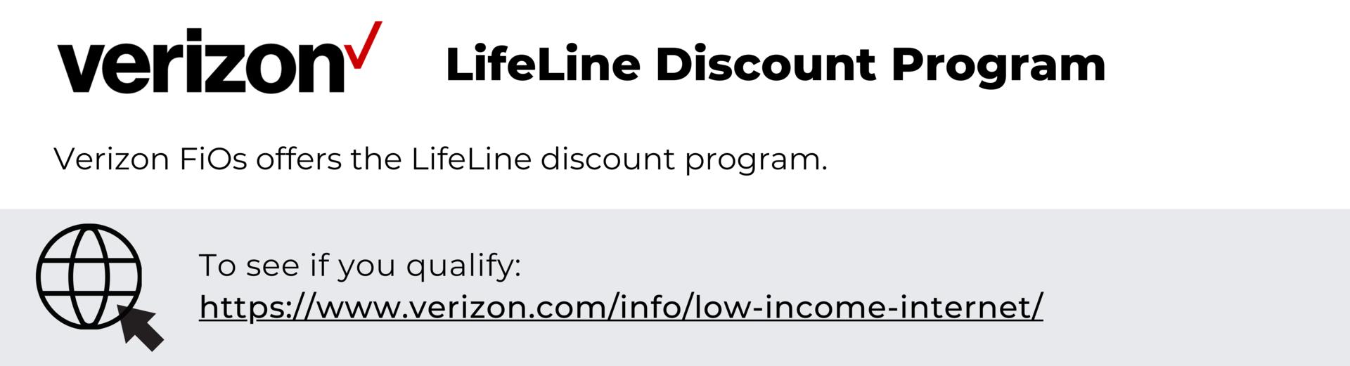 Verizon FiOs - LifeLine Discount Program