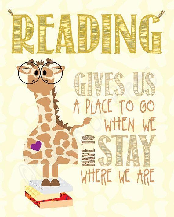 Quote, Reading gives us a place to go.