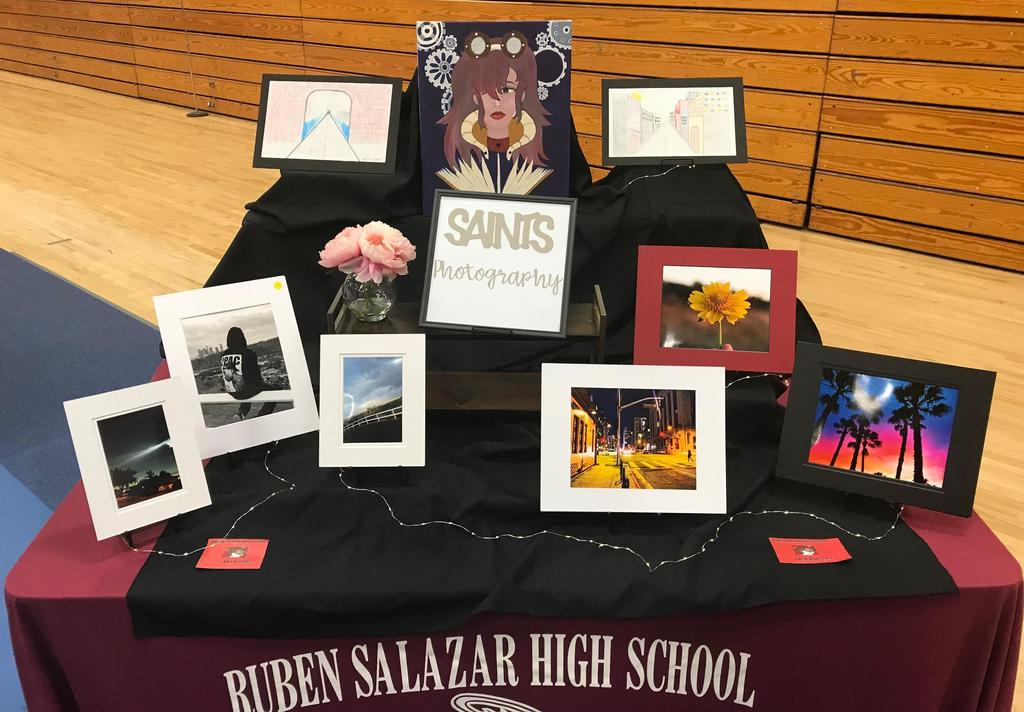 Photos and art created by Salazar students on display
