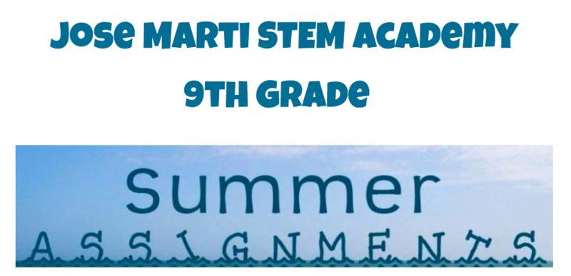 9th grade summer assignments banner