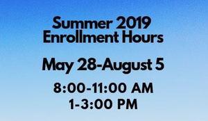 Summer Enrollment 2019