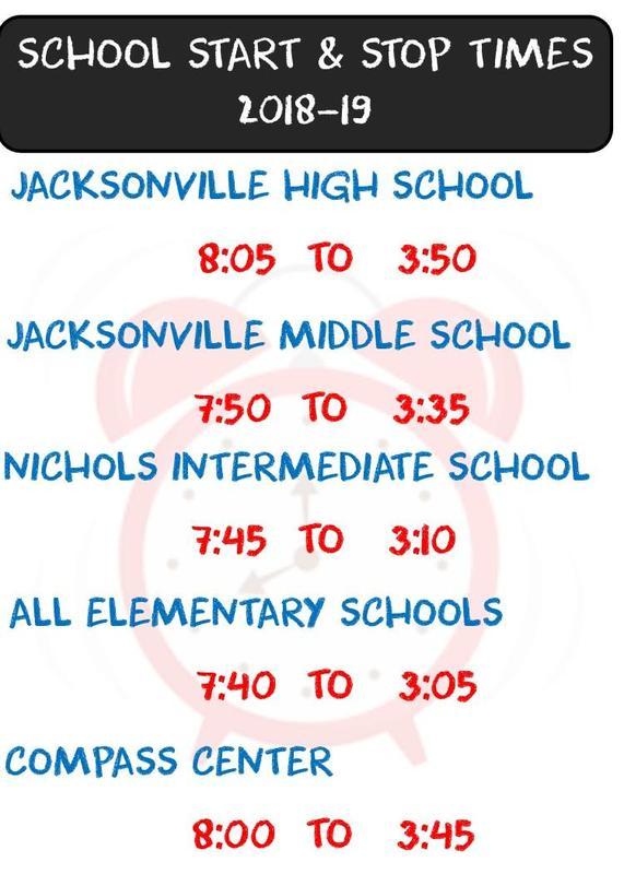 School Start Stop Times chart