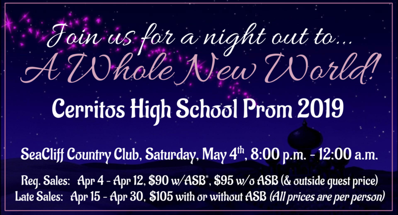 2019 Prom Tickets for A Whole New World are on Sale now! Contracts are due 4/18! Featured Photo