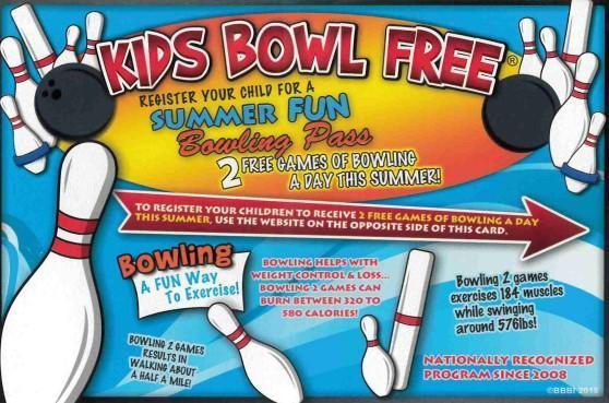 Kids Bowl Free Summer Fun