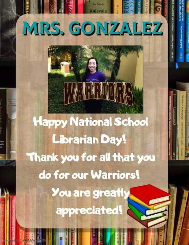 National School Librarian Day!