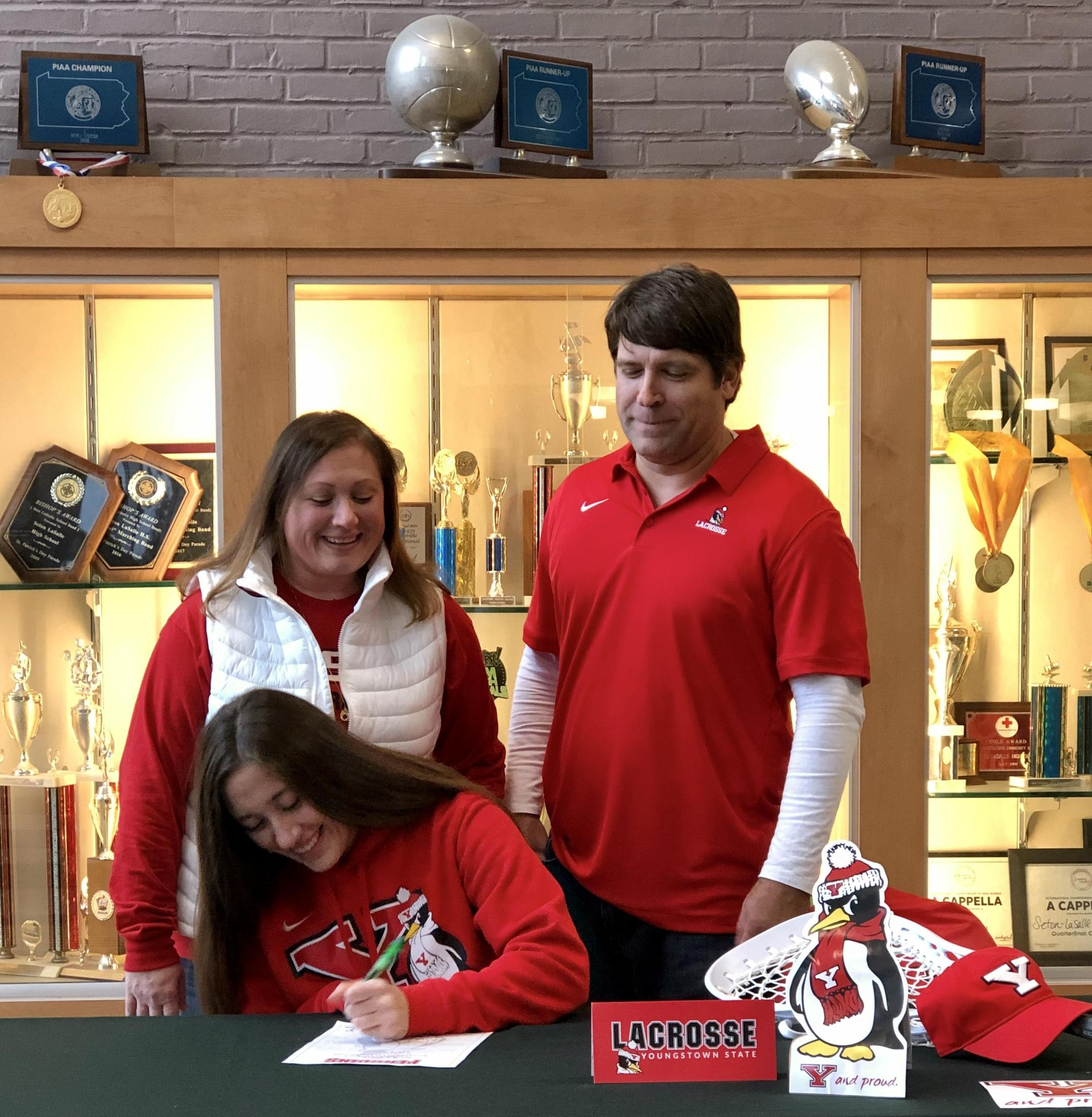 Class of 2020 senior signs her letter of intent to play lacrosse at Youngstown University