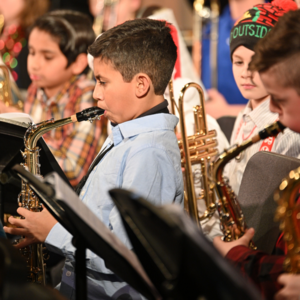 5th grade band students performing