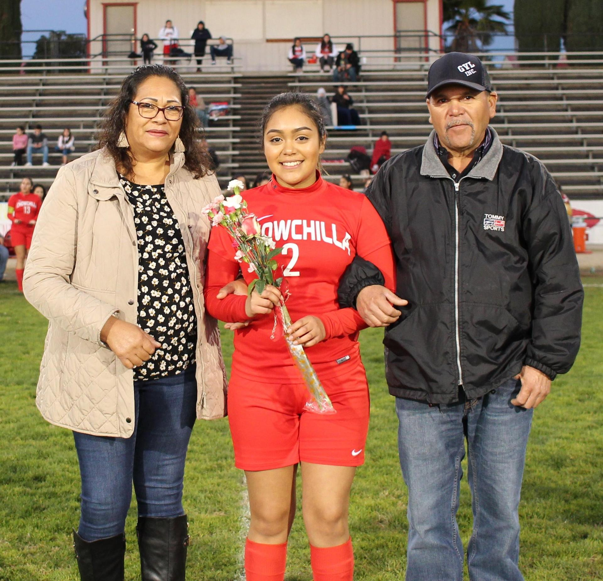 Cheymy Granados at soccer senior night