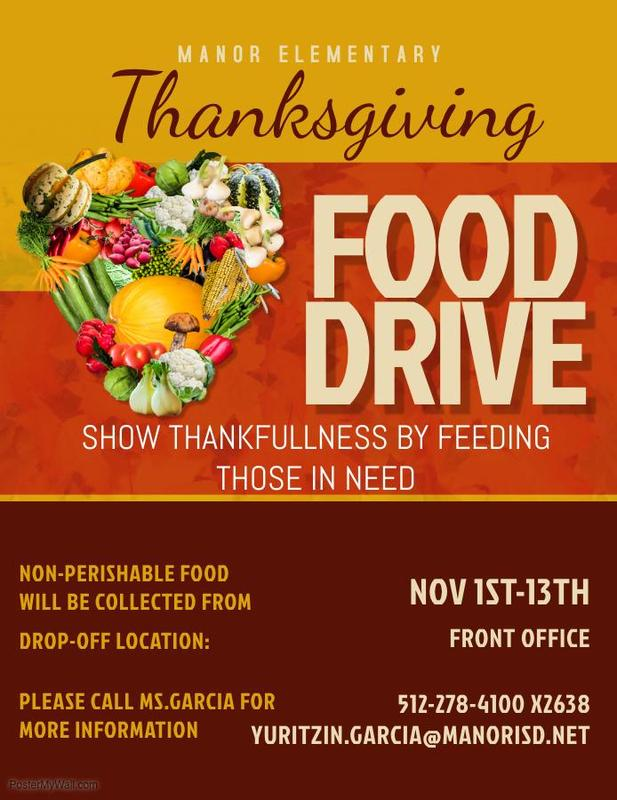 Manor Elementary Thanksgiving Food Drive Thumbnail Image