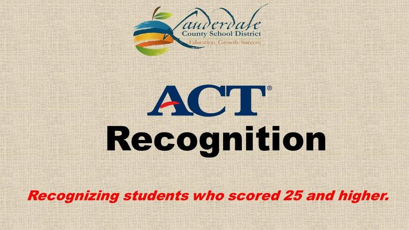 LCSD ACT Recognition Graphic