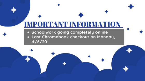 Chromebook checkout and online learning