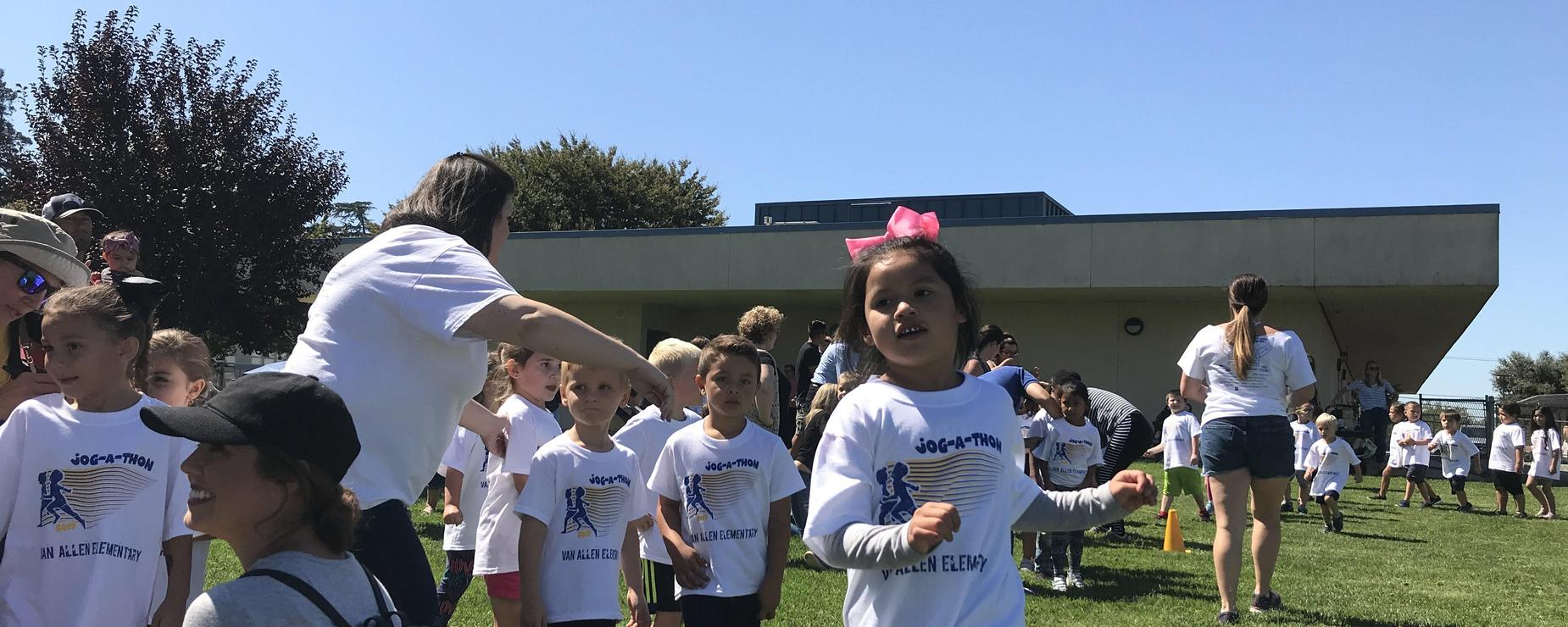 Jogathon kindergarteners