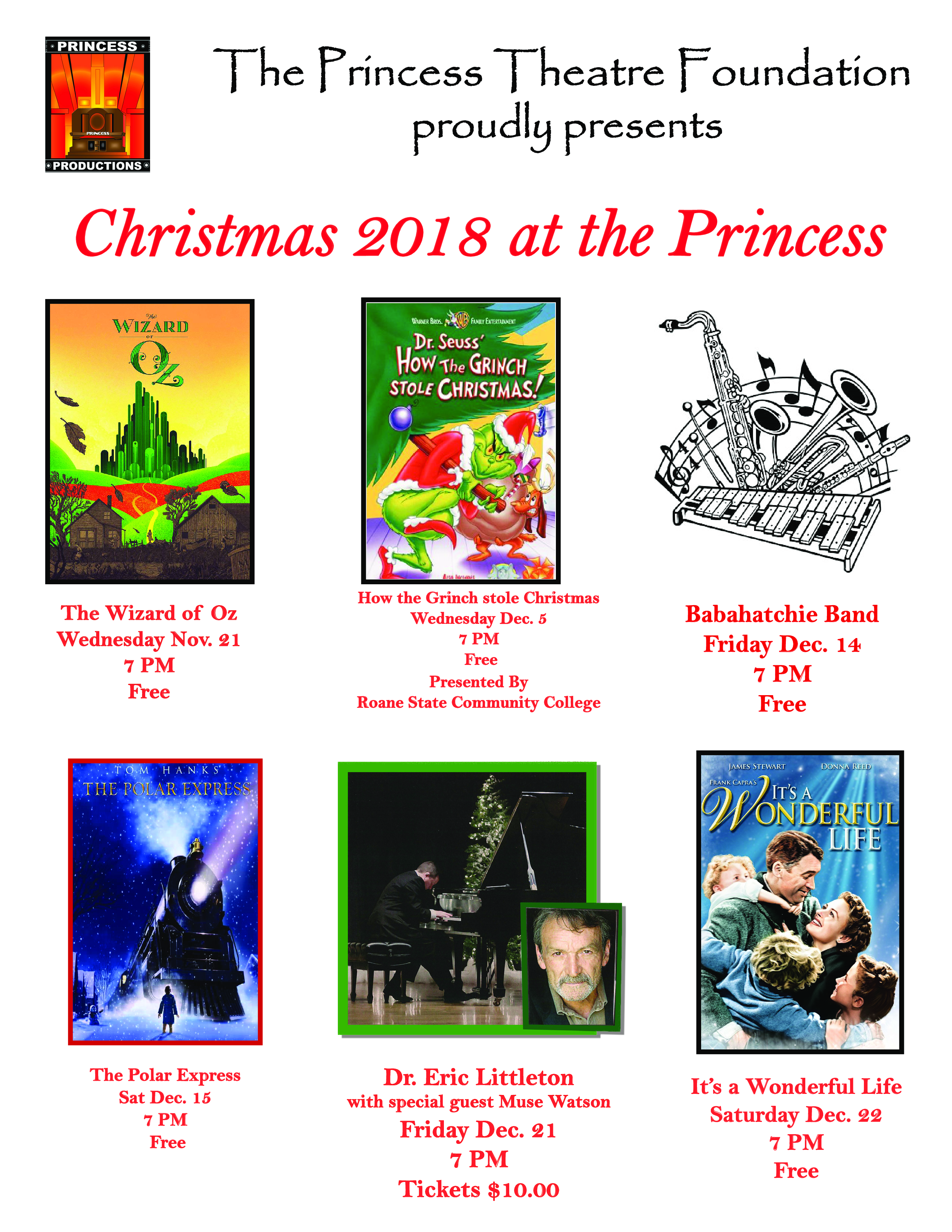 Christmas 2018 at the Princess