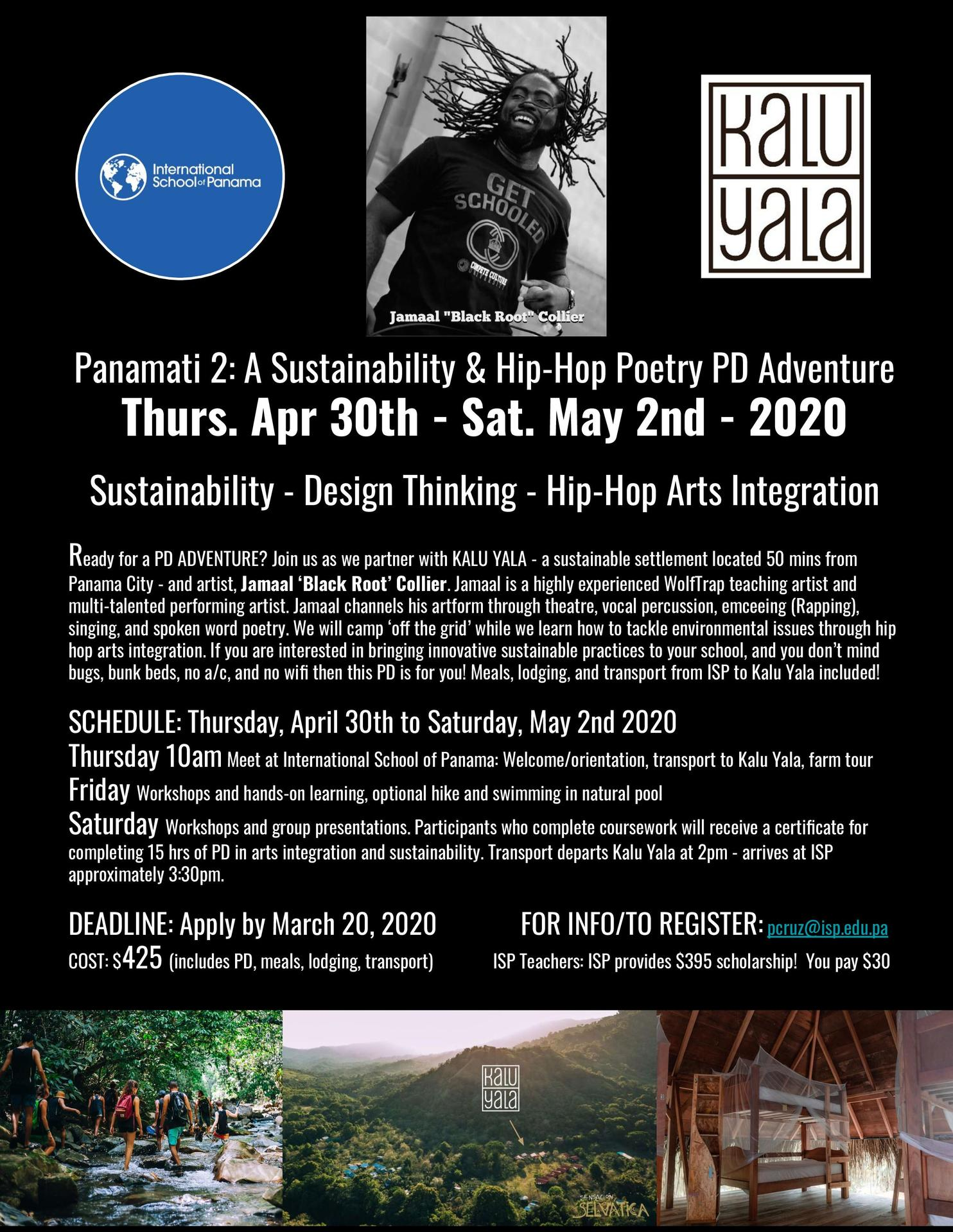 Panamati 2: A Sustainability & Hip-Hop Poetry PD Adventure