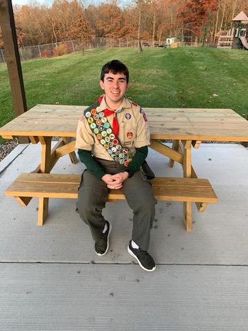 pic of Andy Schriner at picnic table