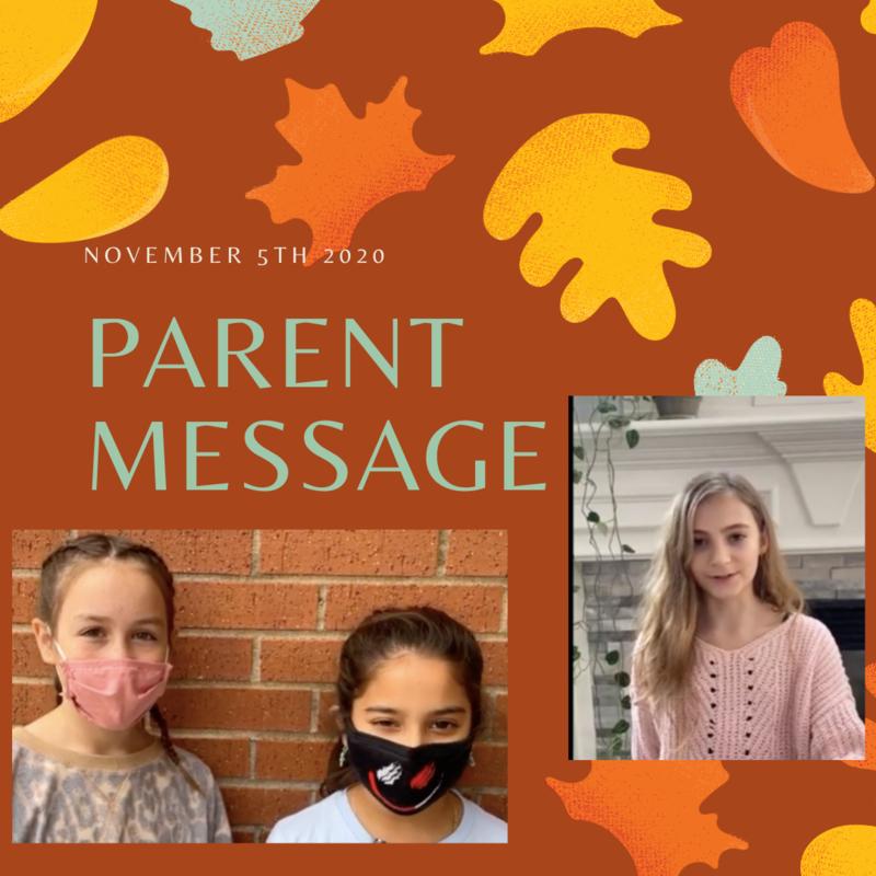 SCIS Parent Message: November 5th, 2020 Featured Photo