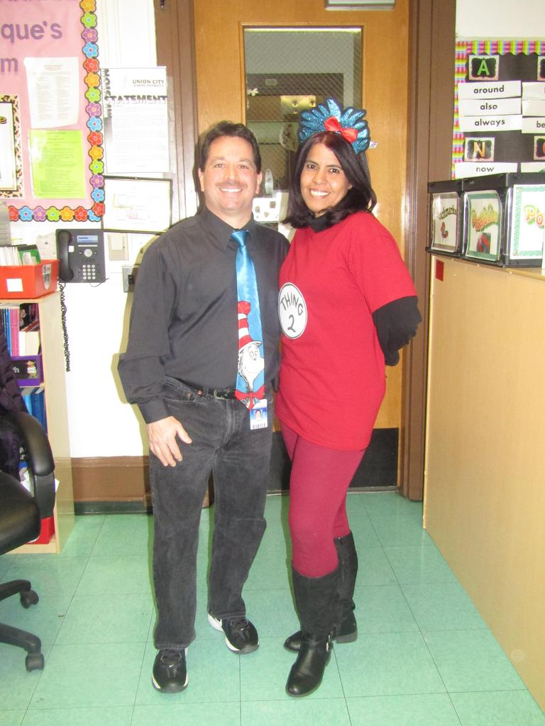 mr. celebrano and teacher