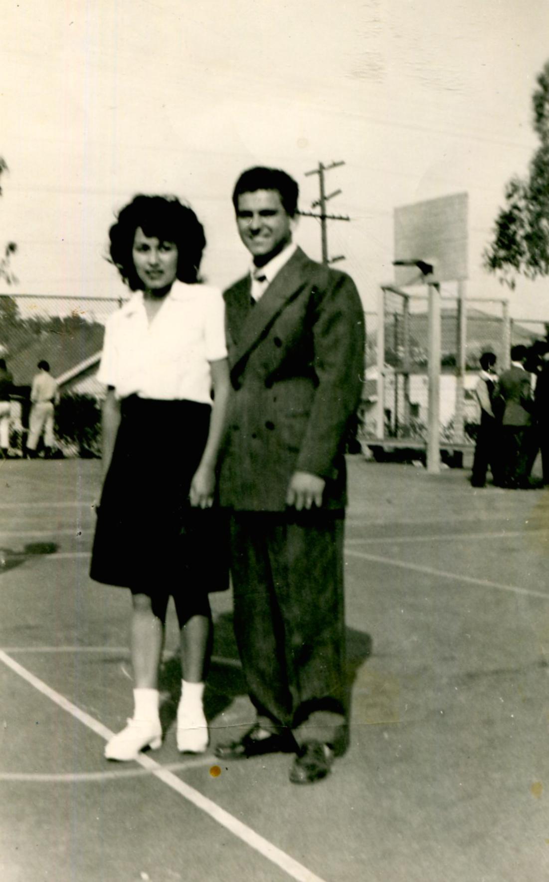 1947 Belvedere J.H. Seniors Gloria Acosta and Pete Martinez