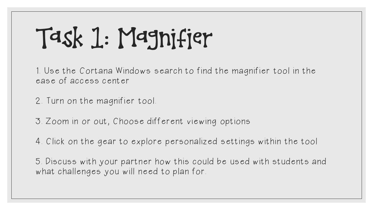 Microsoft Accessibility Tools: Magnifier