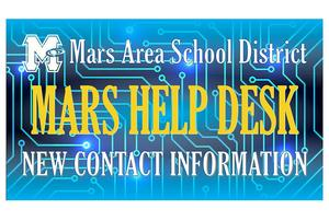 Mars Area School District's Technology Office is transitioning to a new Mars Help Desk for any students in need of assistance with District-issued technology devices.
