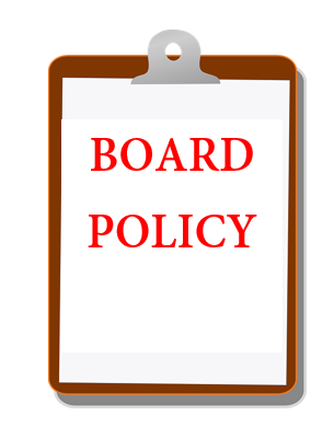 Clip board with words:  Board Policy