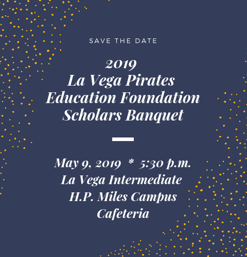 2019 Scholars Banquet.  Save the date for May 9.