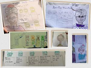 Rosa Parks drawing collage