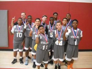 Sunnymead Middle Stallions basketball champs