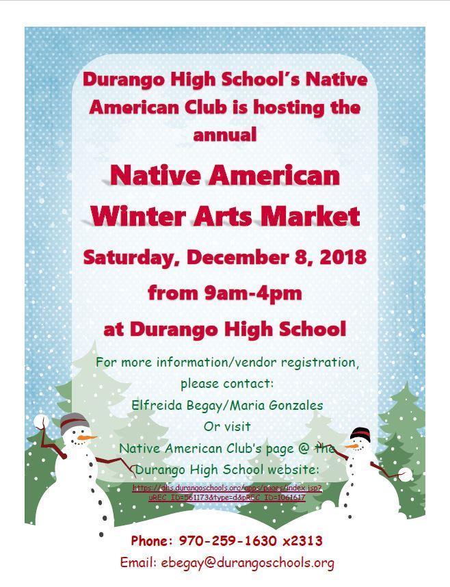 Native American Winter Arts Market 2018_update