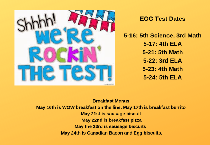 EOG TEST Dates and Breakfast Menus Thumbnail Image