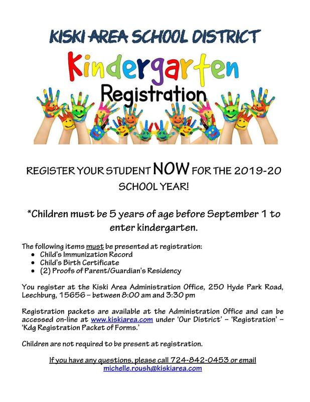 Kindergarten Registration Information Featured Photo