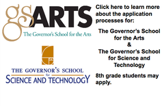 The Governor's School for the Arts and the Governor's School for Science and Technology Application Processes