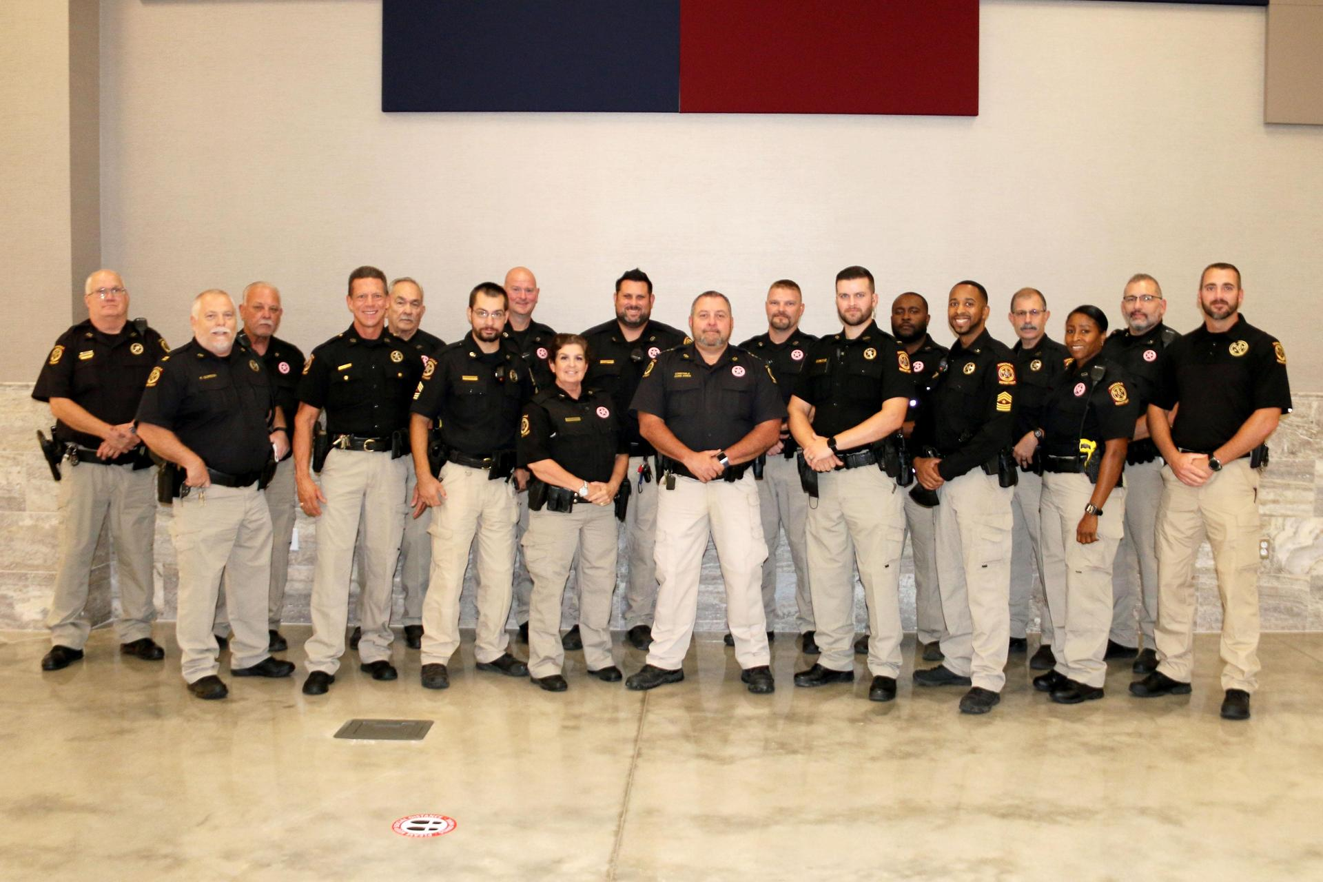 Magnolia ISD 2020-2021 SROs recognized at the Monday, October 12 Board Meeting.