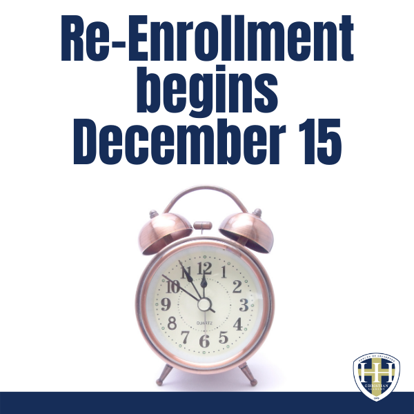Re-Enrollment Begins December 15 2020