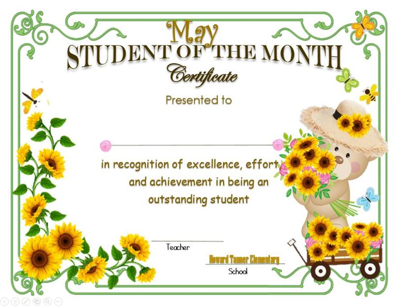 May Student of the Month Featured Photo