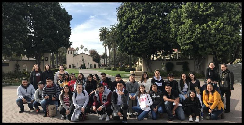 CUHSD students touring Santa Clara University