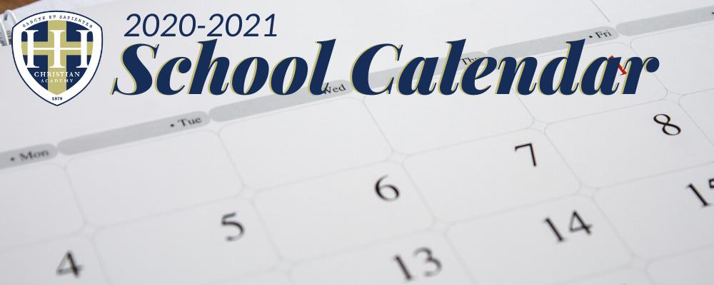 HHCA School Calendar Important Dates